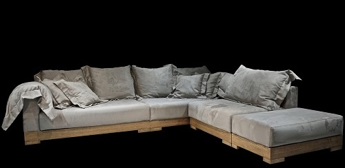 Riviera wood Sofa